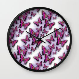 Butterflies African Kente Cloth Inspired Wall Clock