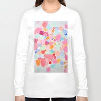 confetti Long Sleeve T-shirts featuring Amoebic Confetti by Ann Marie Coolick