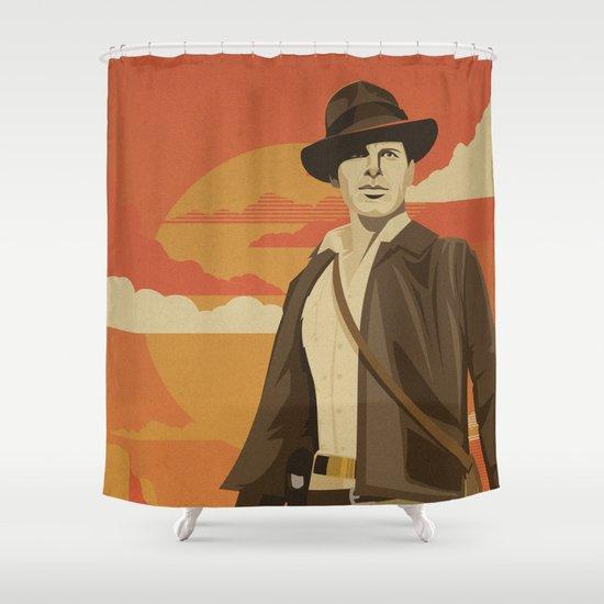 The Archeologist Shower Curtain