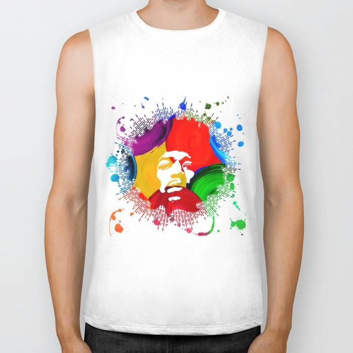 JIMI0402_water color Biker Tank