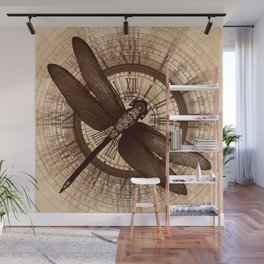 Steampunk - Mechanical Dragonfly Wall Mural