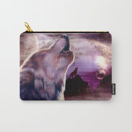 Wolf Howling at The Moon Carry-All Pouch