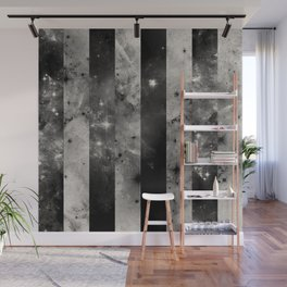 Stripes In Space - Black and white panel effect space scene Wall Mural