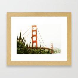 Green Golden Gate Framed Art Print