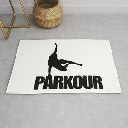 Parkour illustration Rug
