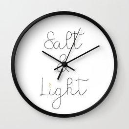 salt and light Wall Clock