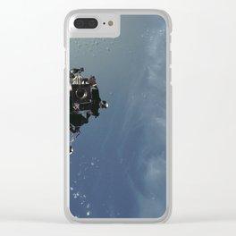 Apollo 9 - Lunar Module Over Earth Clear iPhone Case