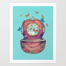 Inner Space - colour option Art Print