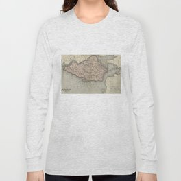 Vintage Map of Staten Island New York (1874) Long Sleeve T-shirt