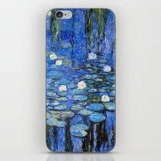 waterlilies a la Monet iPhone & iPod Skin