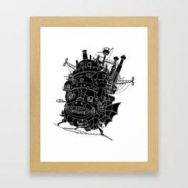 Howl's moving castle. Framed Art Print