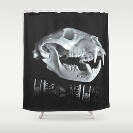 Bear Skull Still Life Shower Curtain