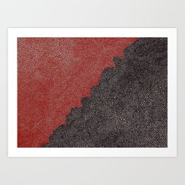 Our Blood VS Your Oil Art Print
