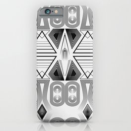 "Art Deco. ""Black and light gray"" 28 . iPhone Case"