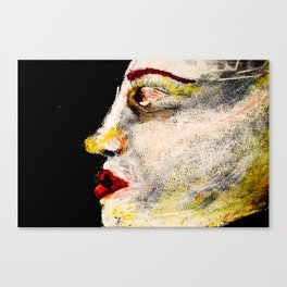 pale woman Canvas Print