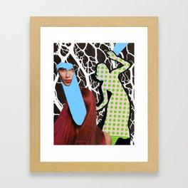 Schizo-Neural Brain Storm Framed Art Print