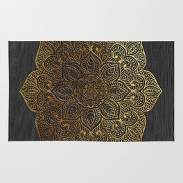 Wood Mandala - Gold Rug