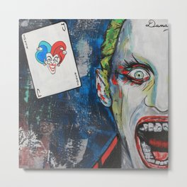 Joker Gangsta Metal Print
