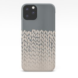 Half Knit Ombre Nat iPhone Case