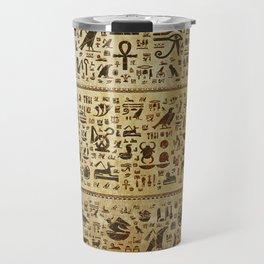 Ancient Egyptian Hieroglyphics Travel Mug