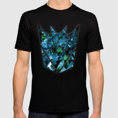 Decepticons Abstractness - Transformers MEDIUM Black Mens Fitted Tee