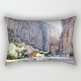 Rock Slide Rapid, Santa Elena Canyon at Golden Hour Rectangular Pillow