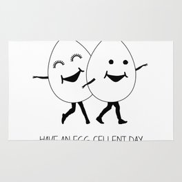 have an egg-cellent day Rug