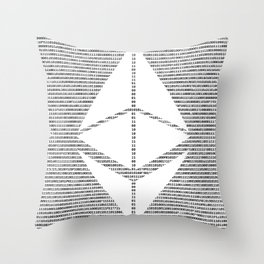 Binary Ethereum Throw Pillow