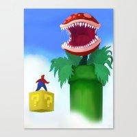 mario Canvas Prints featuring Mario by Steve Spavento