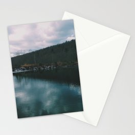 Teal waters of the Mountain Stationery Cards