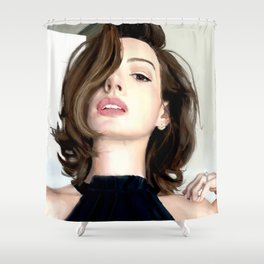 Pretty girl selfie Shower Curtain