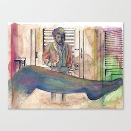 The Graduate - coffee & ink Canvas Print
