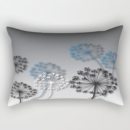 Mysterious Flowers Rectangular Pillow