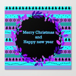 christmass and new year Canvas Print