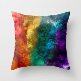 Rainbow Smoke Throw Pillow