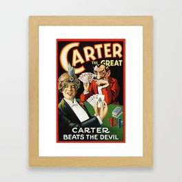 Carter The Great Magician Poster Framed Art Print