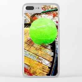 Tennis art 6 Clear iPhone Case