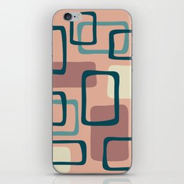 Mid Century Modern Abstract Squares Pattern 445 iPhone Skin