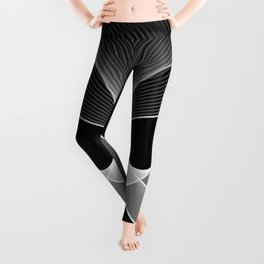 Abstract Butterfly black and white Leggings