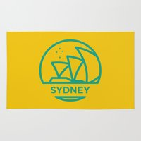 sydney Area & Throw Rugs featuring Sydney by BMaw