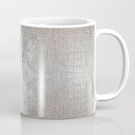Silver Velvet Snake Pattern Coffee Mug