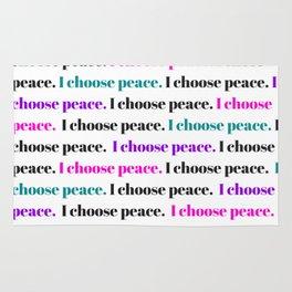I choose peace Rug