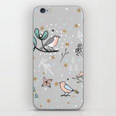 Scandinavian birds iPhone Skin