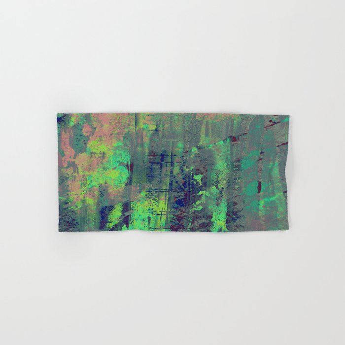 Aqua Abstract Hand & Bath Towel