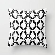 Plain KaleidoNope Throw Pillow