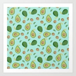 Avocado gen z fashion apparel food fight gifts Art Print