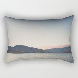 sunset over the lake ... Rectangular Pillow