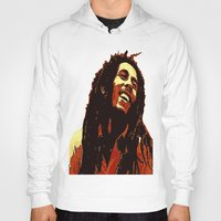 reggae Hoodies featuring the god of reggae by  Agostino Lo Coco