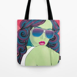 Pop Art Portrait Series 1: v.5 Tote Bag