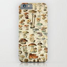 Adolphe Millot - Nouveau Larousse Illustré - Champignons (Mushrooms and Fungi) (1910) iPhone Case